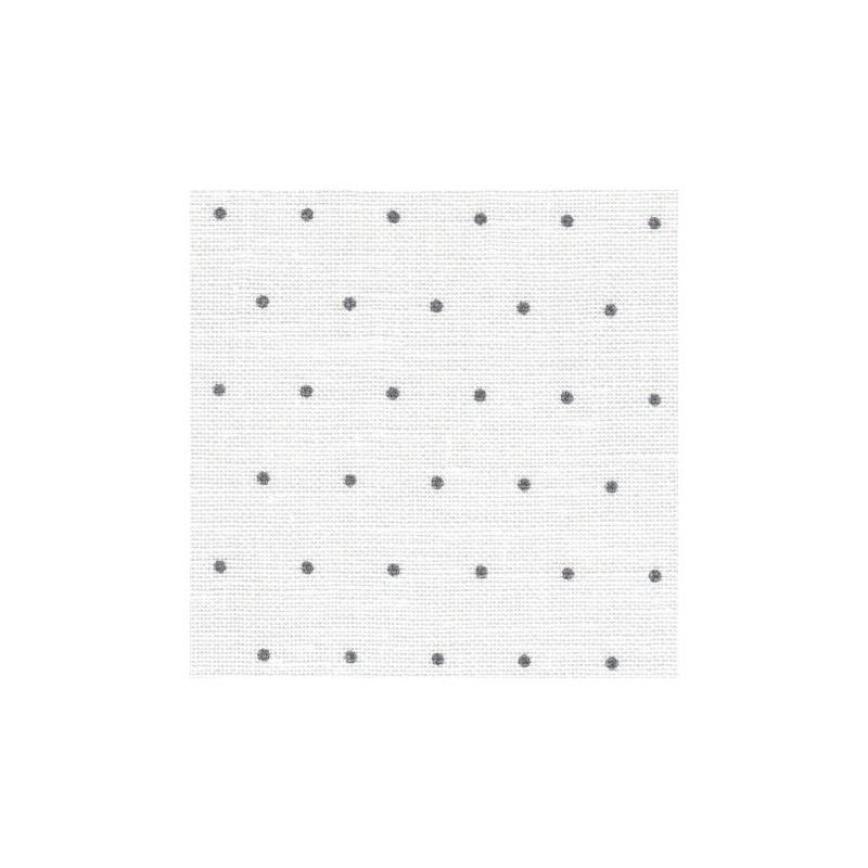 Lin Zweigart Edinburgh 14fils/cm - 35x45cm - blanc à mini points gris
