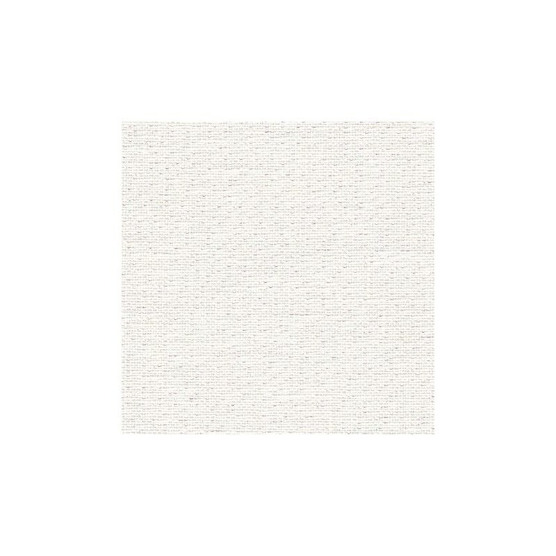 Lin Zweigart Edinburgh 14fils/cm - 35x45cm - blanc pailleté irisé
