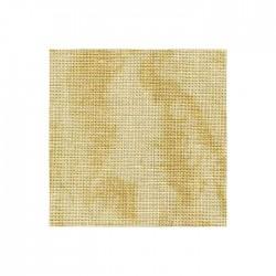 Lin Zweigart Edinburgh 14fils/cm - 50x70cm - sable marbré