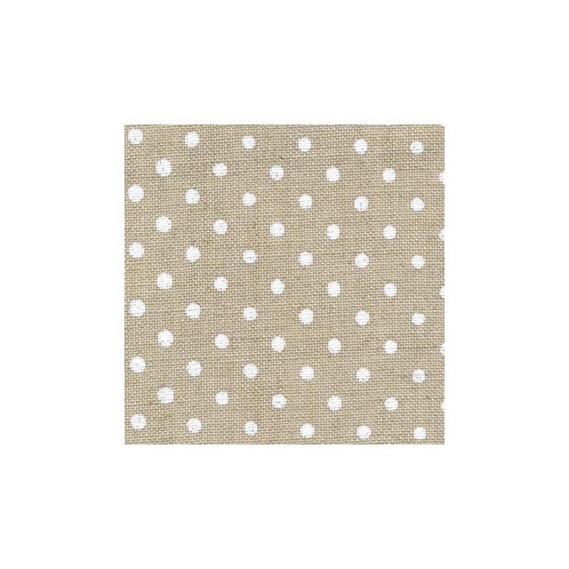 Lin Zweigart Edinburgh 14fils/cm - 50x70cm - lin naturel à petits points blancs