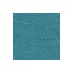 Lin Zweigart Newcastle 16fils/cm - largeur 140cm - bleu lagon pailleté irisé