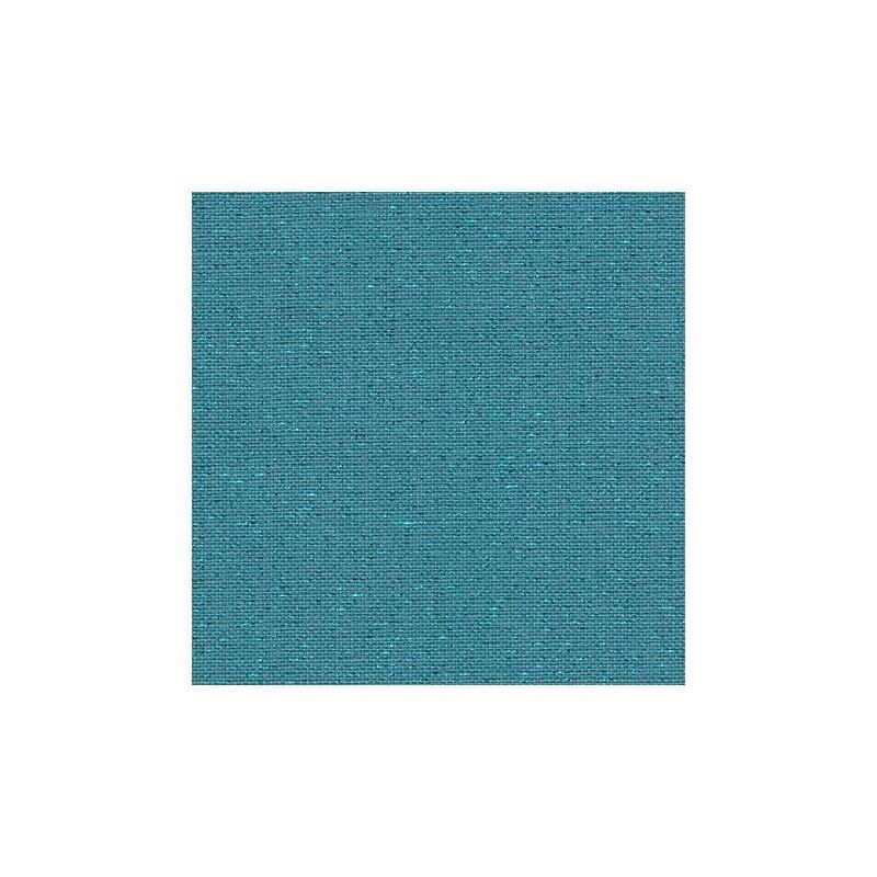 Lin Zweigart Newcastle 16fils/cm - 50x70cm - bleu lagon pailleté irisé