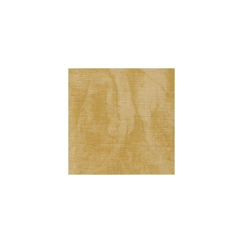Lin Zweigart Newcastle 16fils/cm - 50x70cm - sable marbré