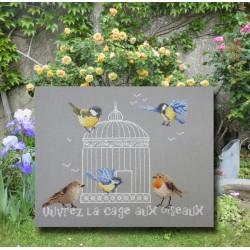 Ouvrez la cage aux oiseaux - Au fil de Martine