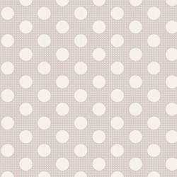 Medium Dots Light Grey - coupon 50x110cm - tissu Tilda