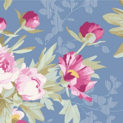 Hazel Blue - coupon 50x110cm - tissu Tilda