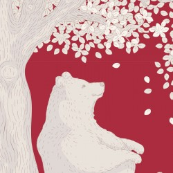 Woodland Carmine - coupon 50x110cm - tissu Tilda