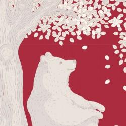 Woodland Carmine - au mètre - laize 110cm - tissu Tilda