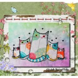 Chat sent le printemps ! - Isabelle Haccourt Vautier
