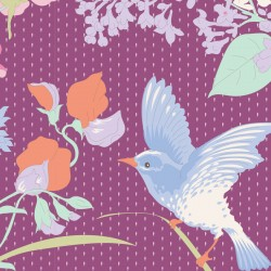 Gardenlife Plum - coupon 50x55cm - tissu Tilda
