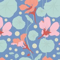 copy of Nasturtium Lavender - coupon 50x55cm - tissu Tilda