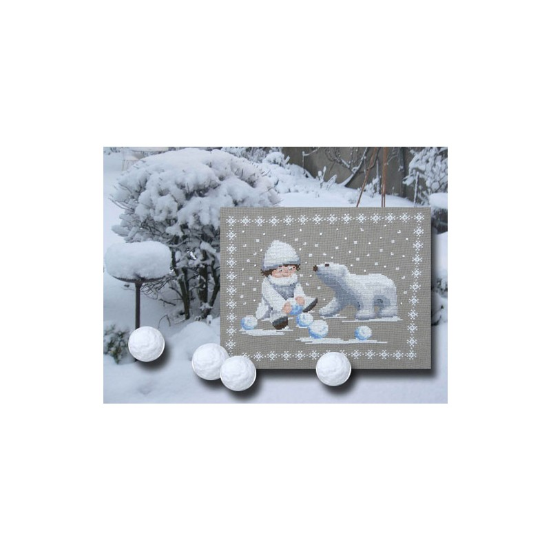 Boules de neige - Au fil de Martine