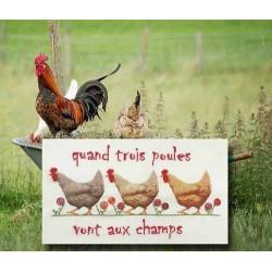 Quand trois poules... - Au fil de Martine