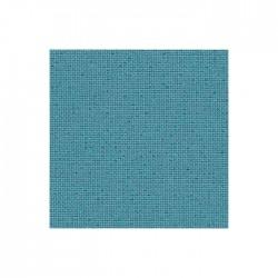 Toile Lugana Zweigart 10fils/cm - 50x70cm - bleu lagon pailleté irisé