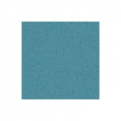 Toile Lugana Zweigart 10fils/cm - 35x45cm - bleu lagon pailleté irisé