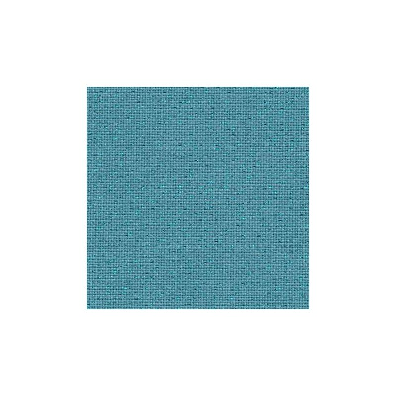 Toile Lugana Zweigart 10fils/cm - largeur 140cm - bleu lagon pailleté irisé