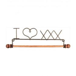 """Cintre """"I love xxx"""" avec tringle en bois 30cm"""