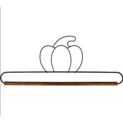 Cintre citrouille avec tringle en bois 30cm