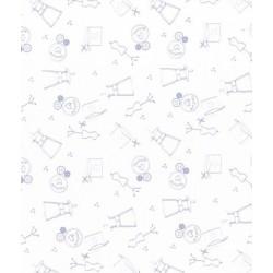 Coupon de tissu I love couture ballerine - Frou-frou - 50x50cm