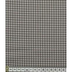 Coupon de tissu Vichy taupe - Frou-frou - 50x50cm
