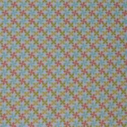 Tissu motif multicolore sur fond blanc - laize 160cm
