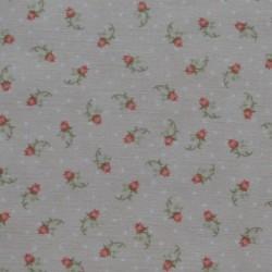 Tissu motif mini roses sur fond beige - laize 110cm