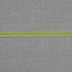 Dentelle fantaisie - vert pomme - 100% coton - marque Frou-frou