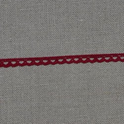 Dentelle fantaisie - rouge - 100% coton - marque Frou-frou