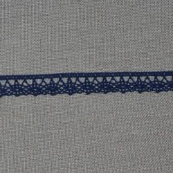 Dentelle fantaisie - bleu foncé - 100% coton - marque Frou-Frou