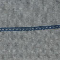 Dentelle fantaisie - bleu gris - 100% coton - marque Frou-frou