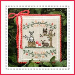 Forest raccoon and friends - Country Cottage Needleworks