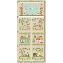 Grille broderie gratuite : Welcome to the forest border - Country Cottage Needleworks