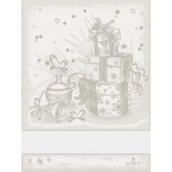Torchon à broder cadeaux de Noël - DMC - beige