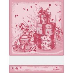 Torchon à broder cadeaux de Noël - DMC - rouge