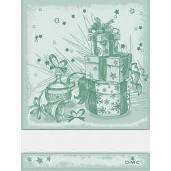 Torchon à broder cadeaux de Noël - DMC - vert