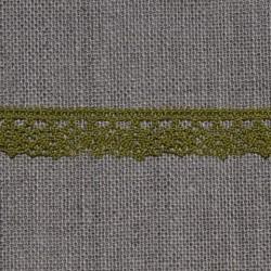 Dentelle fantaisie verte - 100% coton - marque Frou-Frou