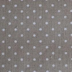Lin Zweigart Belfast 12,6 fils/cm couleur lin naturel à petits points blancs largeur 140cm