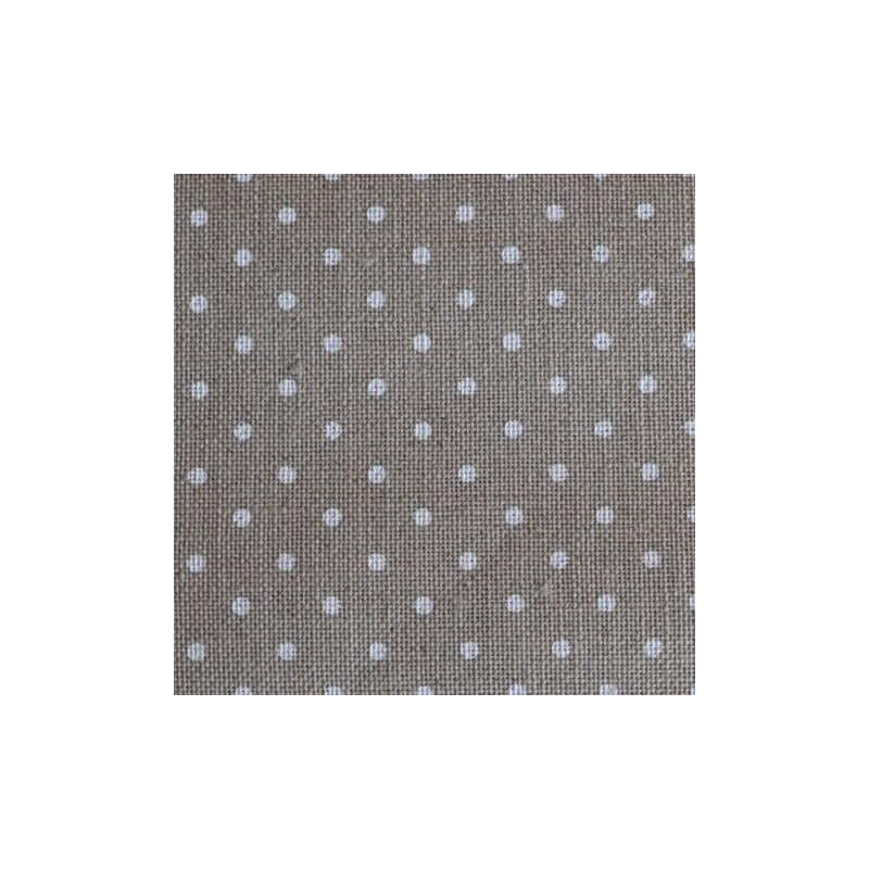 Lin Zweigart Belfast 12,6fils/cm 50x70cm naturel à petits points blancs