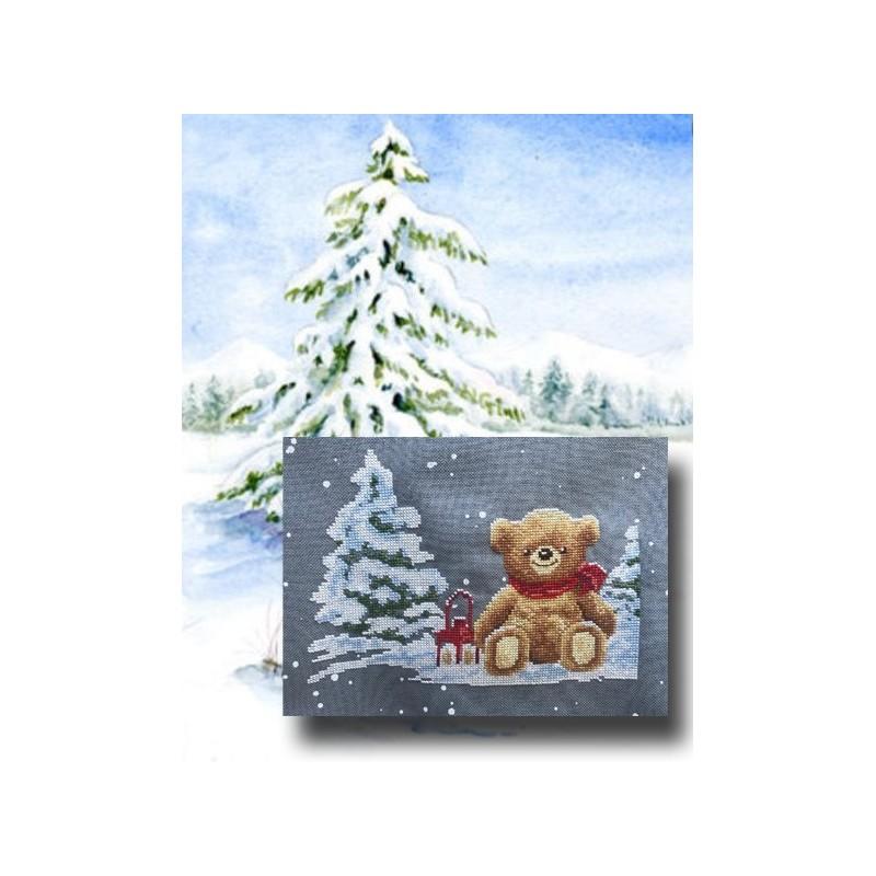 Teddy en hiver - Au fil de Martine