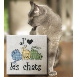 J'aime les chats - Au fil de Martine