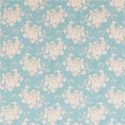 White Flower Teal - coupon 50x55cm - tissu Tilda