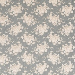 White Flower Greygreen - coupon 50x55cm - tissu Tilda